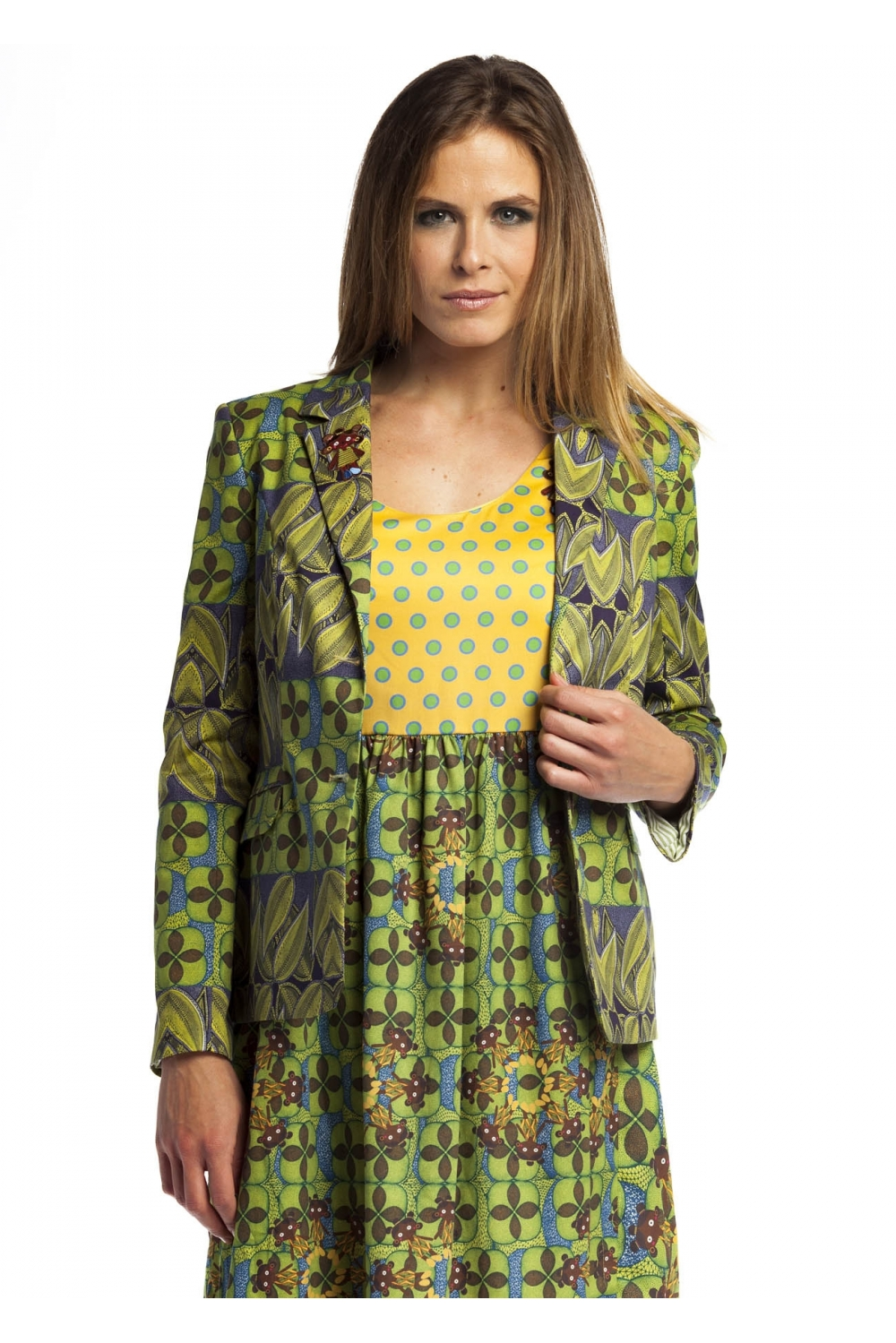 3bf15cdec957d Original blazer with print inspired by African motifs. In addition ...
